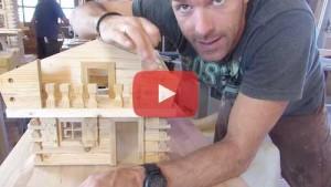 Vogelhaus selber bauen Baluster zuschneiden