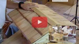Vogelhaus selber bauen Dachfirst montieren